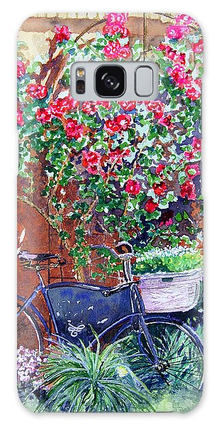 The Bike At Bistro Jeanty Napa Valley Galaxy Case by Gail Chandler