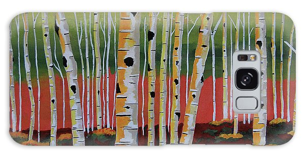 The Birch Forest - Landscape Painting Galaxy Case