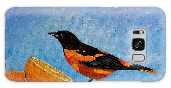 The Bird And Orange Galaxy Case