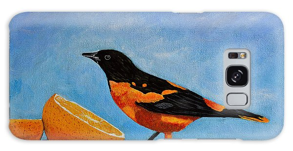 The Bird And Orange Galaxy Case by Laura Forde