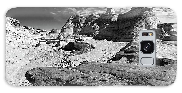 Galaxy Case featuring the photograph The Bisti Badlands - New Mexico - Black And White by Jason Politte