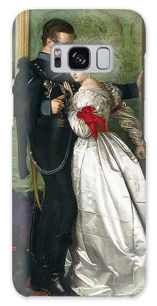 Heartache Galaxy Case - The Black Brunswicker by Sir John Everett Millais