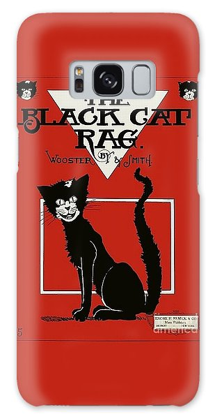 The Black Cat Rag 1905 Sheet Music Art Galaxy Case