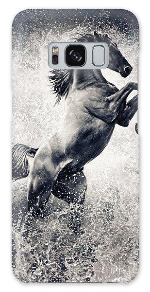 The Black Stallion Arabian Horse Reared Up Galaxy Case