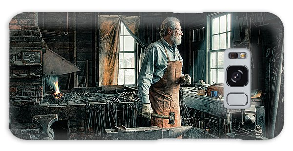 Galaxy Case featuring the photograph The Blacksmith - Smith by Gary Heller