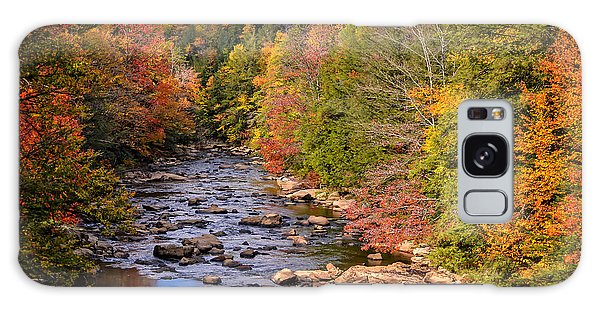 The Blackwater River In Autumn Color Galaxy Case