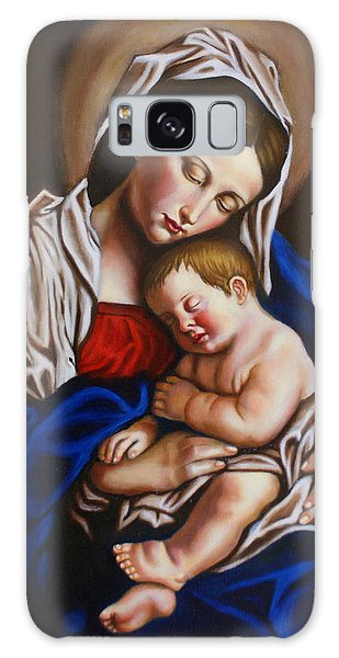 The Blessed Mother And The Infant Jesus Galaxy Case