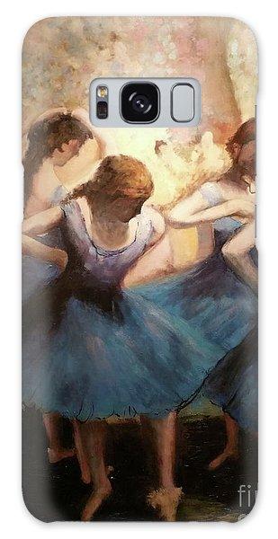 The Blue Ballerinas - A Edgar Degas Artwork Adaptation Galaxy Case