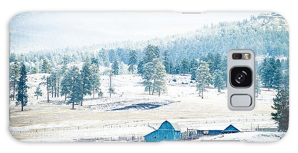 Galaxy Case featuring the photograph The Blue Barn by Jason Smith