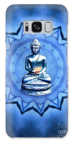 The Blue Buddha Meditation Galaxy Case