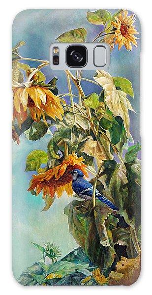 The Blue Jay Who Came To Breakfast Galaxy Case
