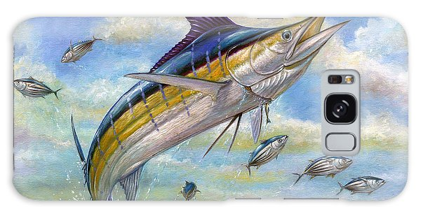 The Blue Marlin Leaping To Eat Galaxy Case