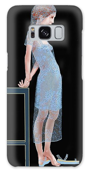 The Blue Outfit Galaxy Case