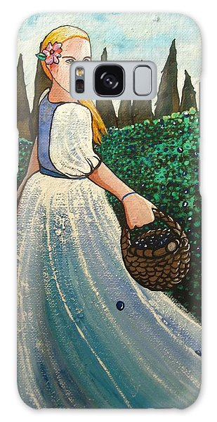 The Blueberry Harvest Galaxy Case by Mary Ellen Frazee
