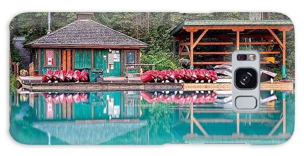 The Boat House At Emerald Lake In Yoho National Park Galaxy Case