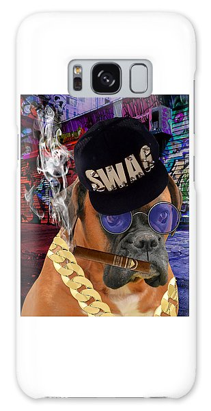 Galaxy Case featuring the mixed media The Boss Boxer by Marvin Blaine