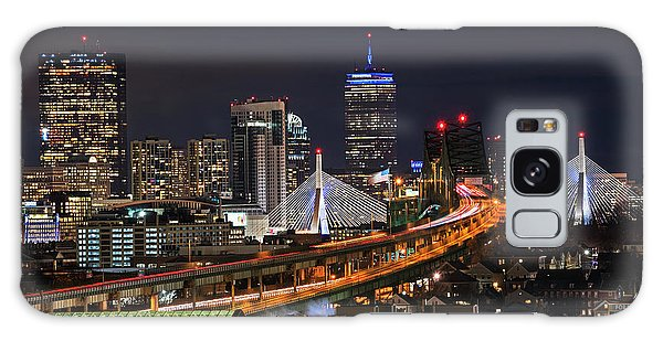 The Boston Skyline Boston Ma Full Zakim Galaxy Case