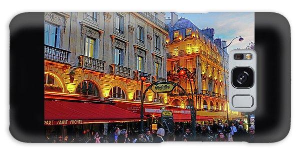 The Boulevard Saint Michel At Dusk In Paris, France Galaxy Case by Richard Rosenshein