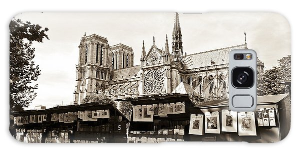 The Bouquinistes And Notre-dame Cathedral Galaxy Case by Perry Van Munster