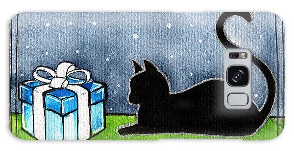 The Box Is Mine - Christmas Cat Galaxy Case