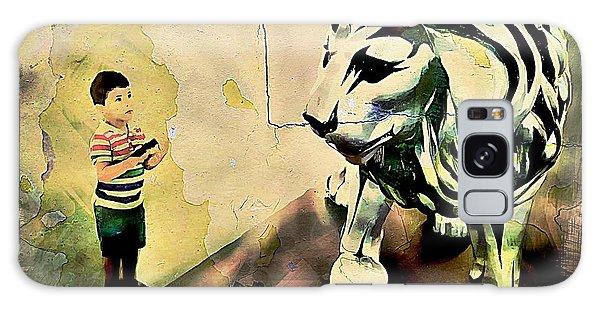 The Boy And The Lion Graffiti Creator,street-art Graffiti,street-art,graffiti Art Street,banksy Art, Galaxy Case