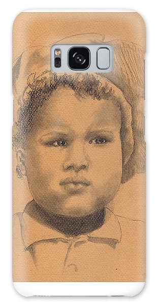 The Boy Who Hated Cheerios -- Portrait Of African-american Child Galaxy Case