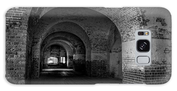 The Bricks Of Fort Pulaski In Black And White Galaxy Case