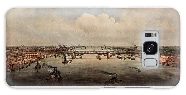 The Bridge At St. Louis, Missouri, Ca. 1874 Galaxy Case