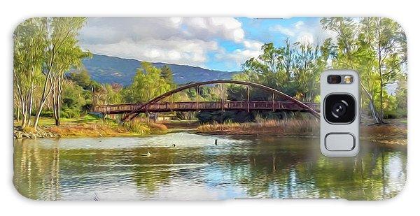The Bridge At Vasona Lake Digital Art Galaxy Case