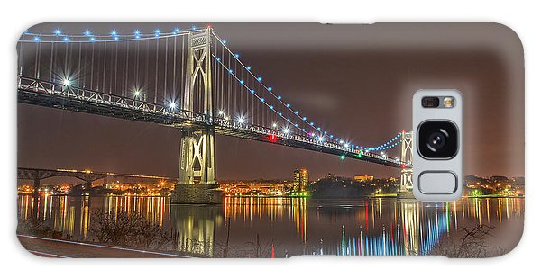 The Bridge With Blue Holiday Lights Galaxy Case