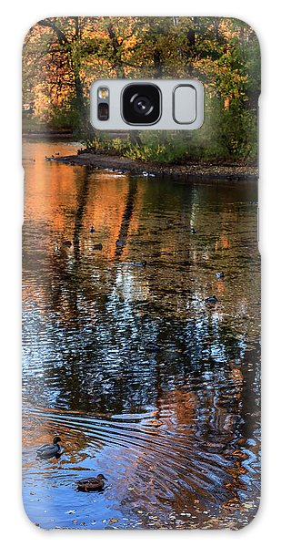 The Bright Colors Of Autumn, Quiet Evenings Are Reflected In The Waters Of The City Pond Galaxy Case