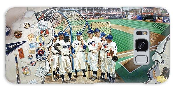 The Brooklyn Dodgers In Ebbets Field Galaxy Case by Bonnie Siracusa