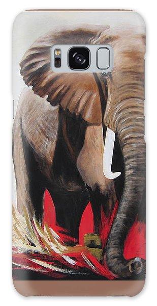 Bumper The  Bull Elephant  Galaxy Case