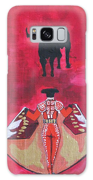 The Bull Fight  No.1 Galaxy Case by Patricia Arroyo