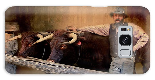 Galaxy Case featuring the photograph The Bullock Driver by Wallaroo Images