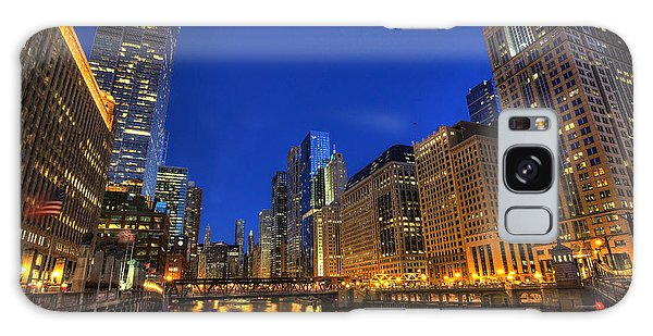 The Busy River In Chicago Galaxy Case by Shawn Everhart