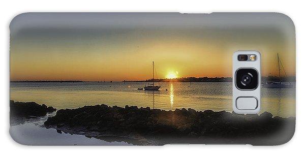 The Calm At Sunrise Galaxy Case by Mary Lou Chmura