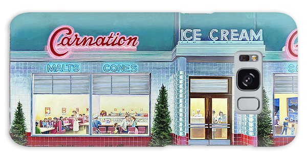 The Carnation Ice Cream Shop Galaxy Case