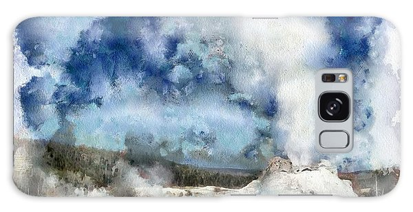 The Castke Geyser In Yellowstone Galaxy Case
