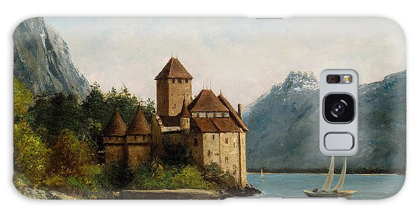 Lake Geneva Galaxy Case - The Castle Of Chillon Evening by Gustave Courbet