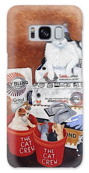 Galaxy Case featuring the painting The Cat Crew by Karen Zuk Rosenblatt
