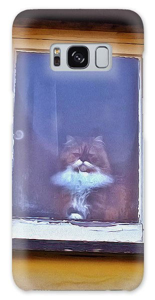 The Cat In The Window Galaxy Case