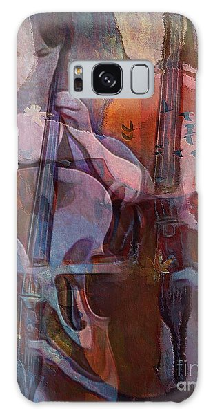 The Cellist Galaxy Case by Alexis Rotella