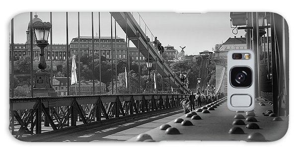 The Chain Bridge, Danube Budapest Galaxy Case