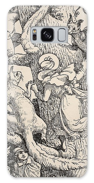 Folklore Galaxy Case - The Children Climbed The Christmas Tree With Animals And All by Walter Crane