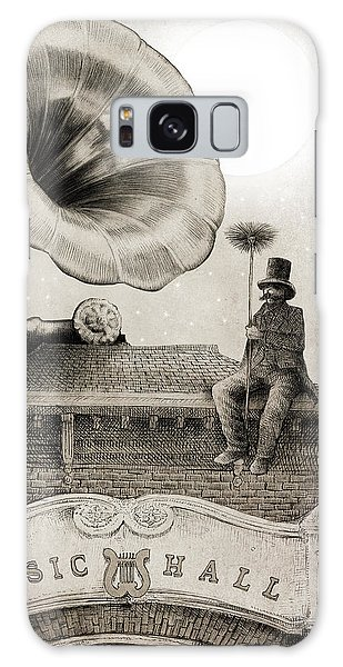 Moon Galaxy Case - The Chimney Sweep Monochrome by Eric Fan