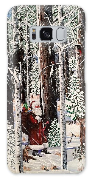 The Christmas Forest Visitor Galaxy Case by Jennifer Lake