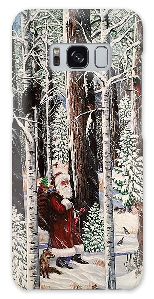 The Christmas Forest Visitor Galaxy Case