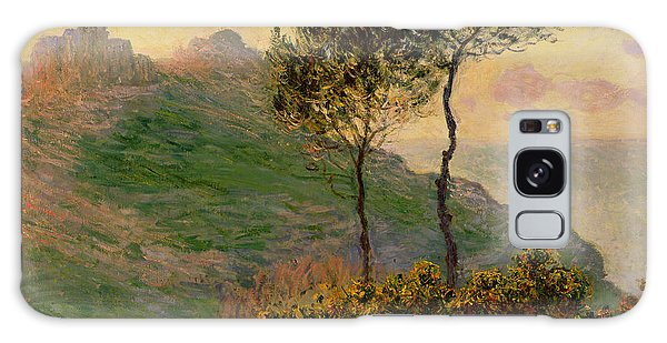 Tree Galaxy Case - The Church At Varengeville Against The Sunlight by Claude Monet