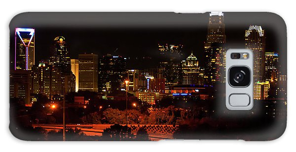 The City Of Charlotte Nc At Night Galaxy Case by Chris Flees